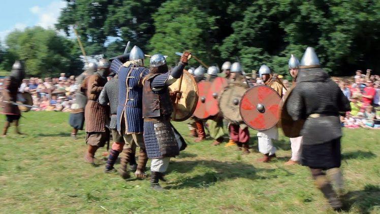 Историческая реконструкция боёв. Дни живой археологии в Кернаве