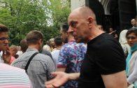 Прага 16 августа 2015 г. Успенская церковь. Подстрекательства со стороны раскольников и провокаторов