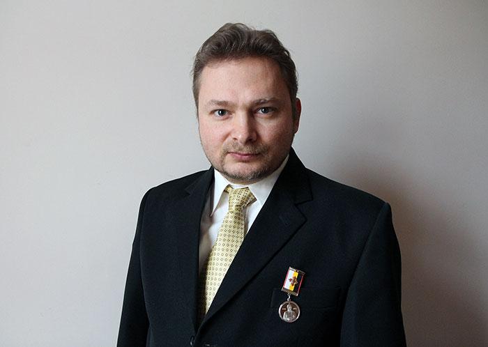 Главный редактор «Видеоканала Держава» Ярослав Мошков награждён медалью «Григорий Ефимович Распутин»