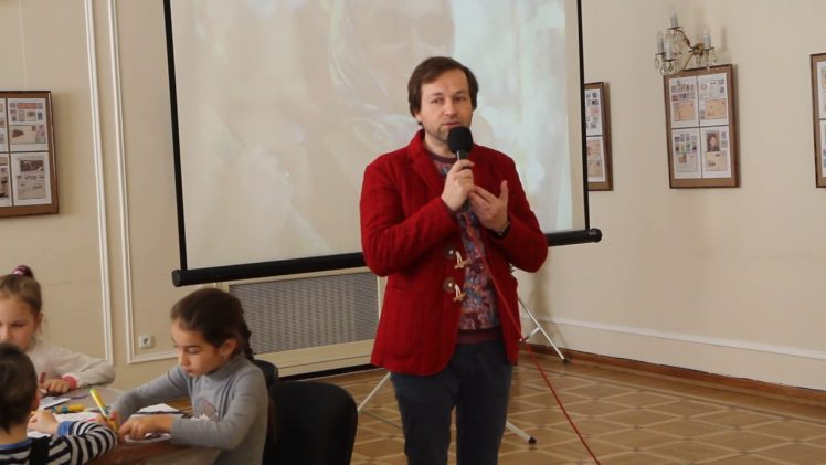 Мастер-класс Кирилла Овчинникова в Праге. Роспись по шёлку